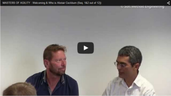 Vidéo Masters of Agility – Welcoming and introducing Alistair Cockburn (seq. 1&2 out of 12)